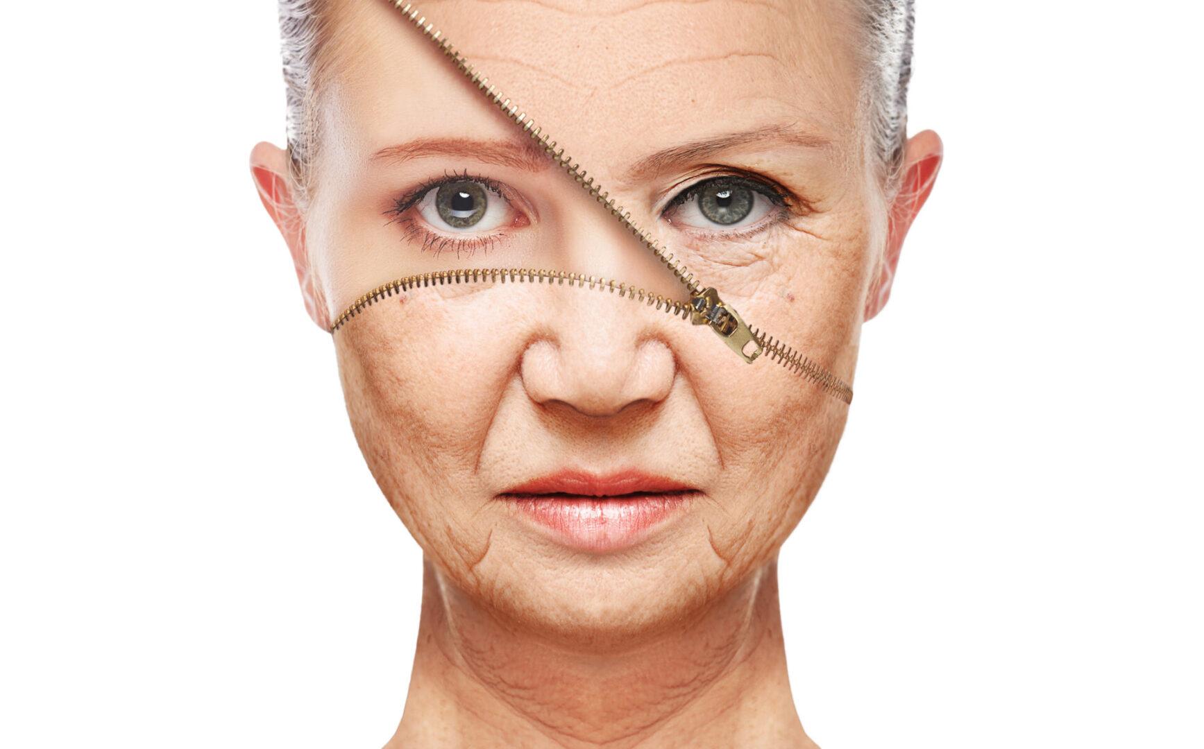 Kobieta z odmłodzoną skórą